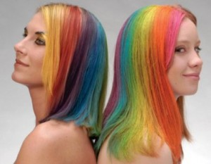 Pinte o seu cabelo de todas as cores