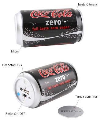 Lata de Cola com Câmara Secreta