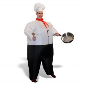 Fato de cozinheiro para se disfarçar neste Halloween