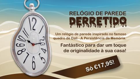 Um relógio de parede inspirado numa obra de Dalí