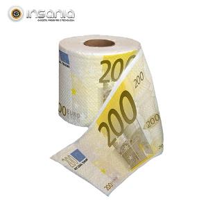 Papel higiénico com notas de 200 euros estampadas